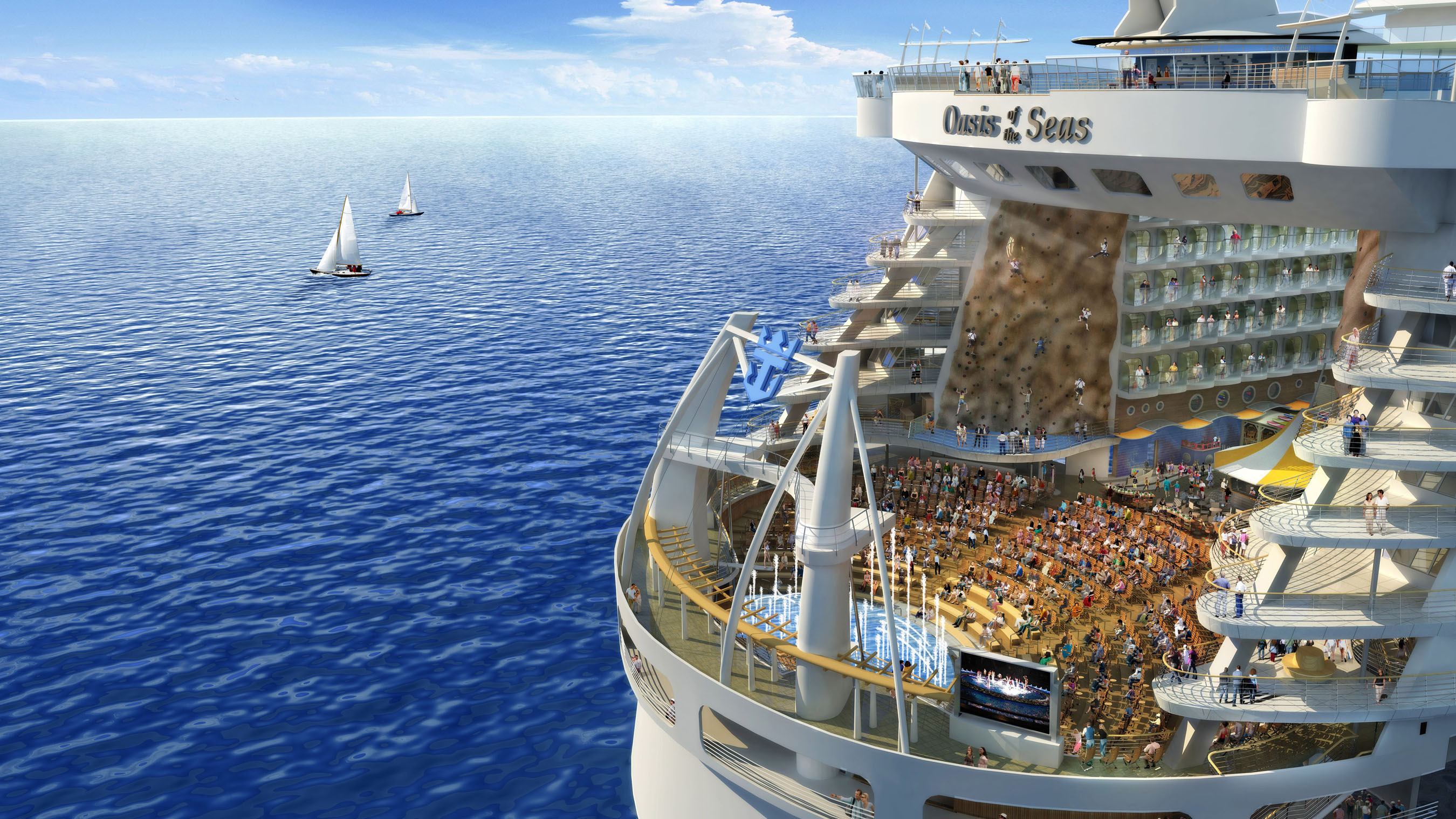 Oasis of the Seas at Port Canaveral in 2016!
