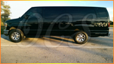 Large Luxury Van waiting for 8-11 passengers at cruise terminals in Port Canaveral, Florida