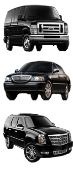 Luxury Sedans, Passenger Vans, and SUV's