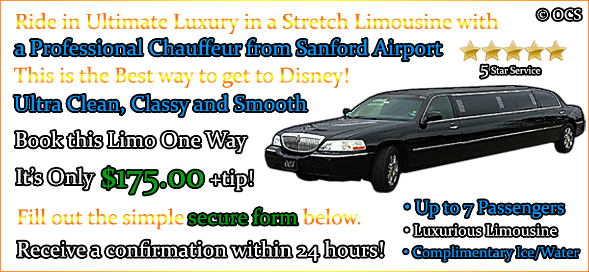 Book this One Way Limo Transfer - It's Only $175.00 + Gratuity = $210.00 TOTAL!
