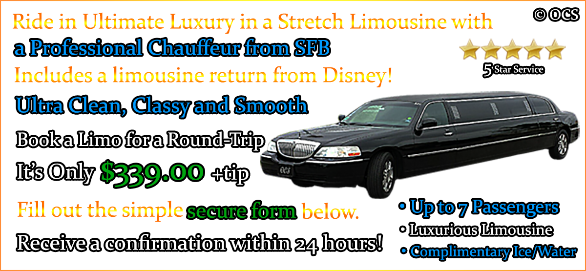 Book these Round Trip Limo Transfers - It's Only $339.00 + Gratuity = $407.00 TOTAL!