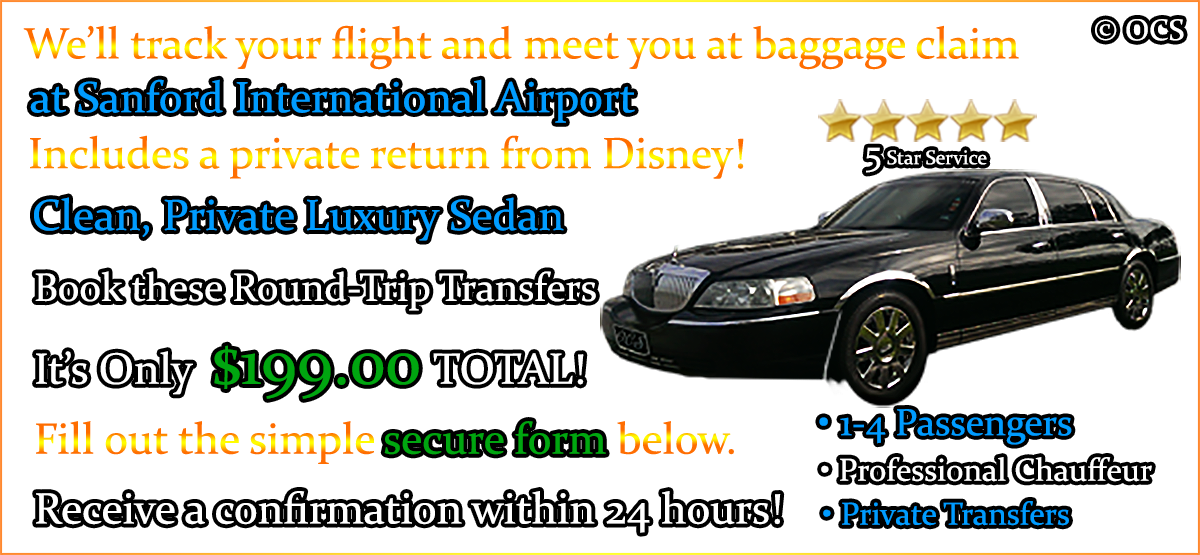 Book these Round-Trip Transfers - It's Only $199.00 TOTAL!