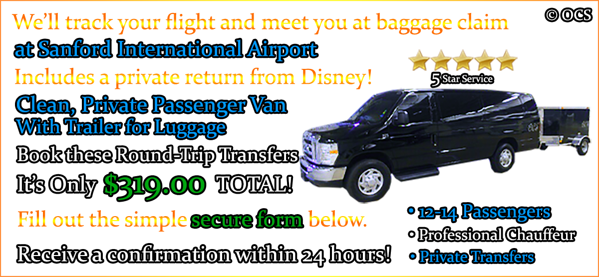Book these Round-Trip Transfers - It's Only $319.00 TOTAL!