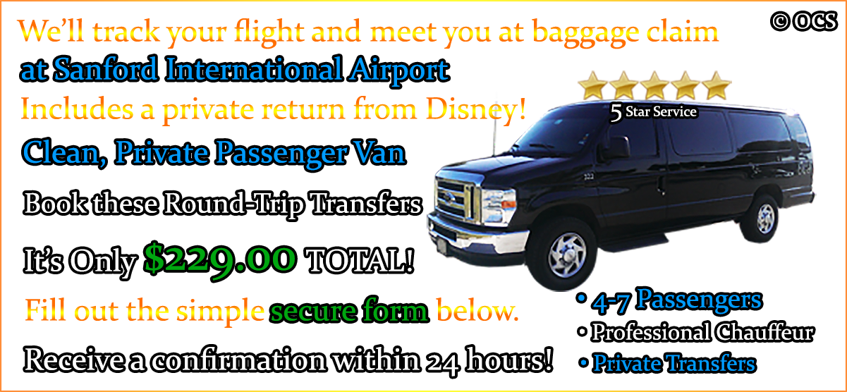 Book these Round-Trip Transfers - It's Only $229.00 TOTAL!