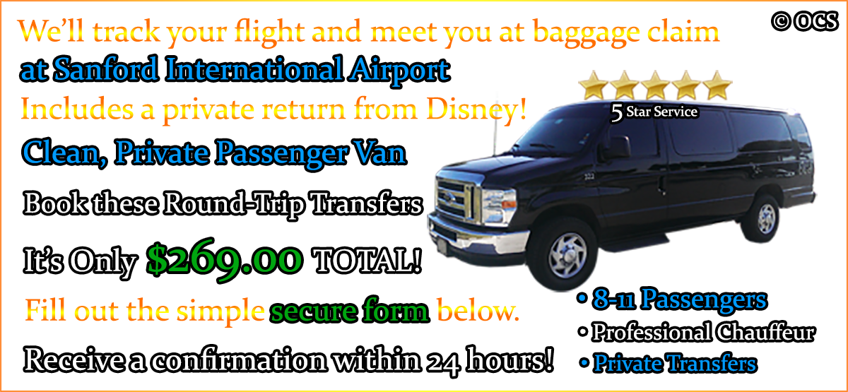 Book these Round-Trip Transfers - It's Only $269.00 TOTAL!
