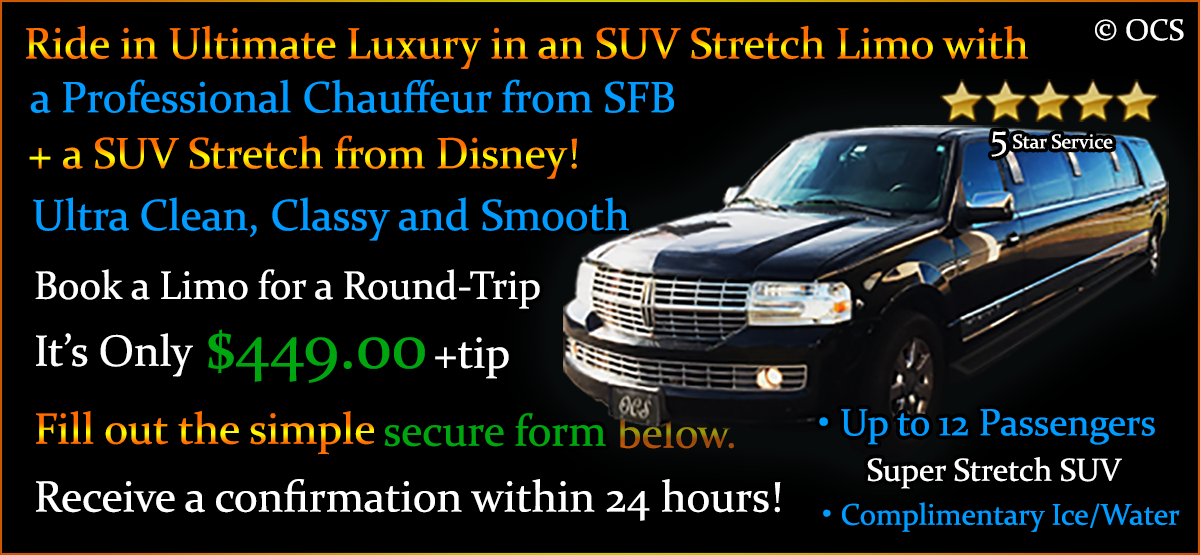 Book these Round Trip SUV Limo Transfers - It's Only $449.00 + Gratuity = $539.00 TOTAL!