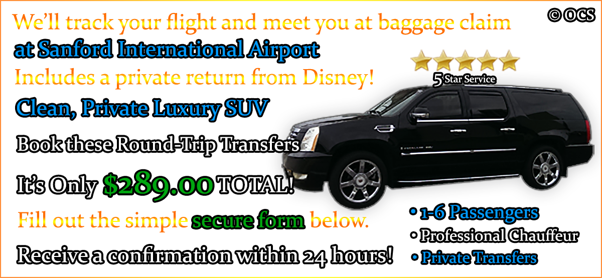 Book these Round-Trip Transfers - It's Only $289.00 TOTAL!